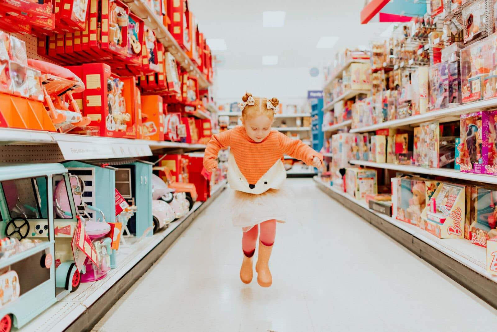 SKIPPING FOR JOY DOWN THE TOY ISLE…