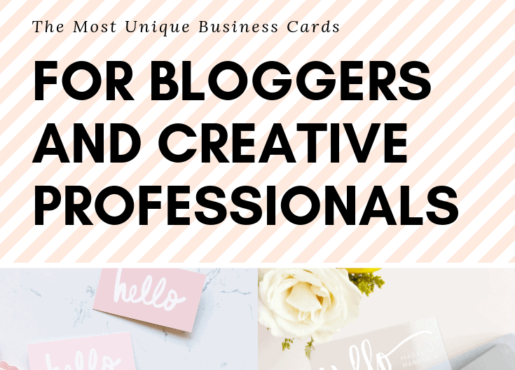 The Most Unique Basic Business Cards For Bloggers And Creative Professionals
