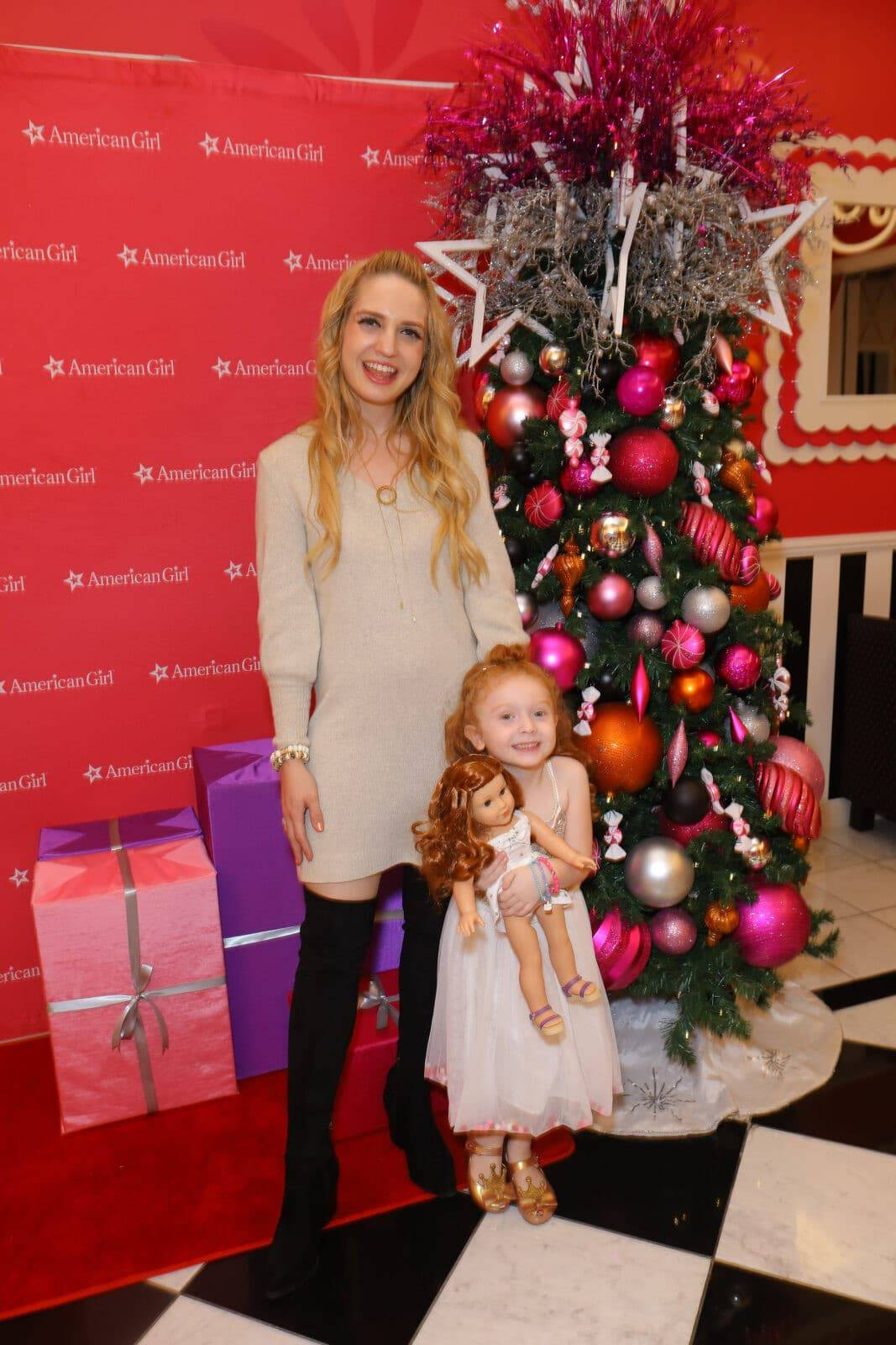 The American Girl Holiday Window Unveil