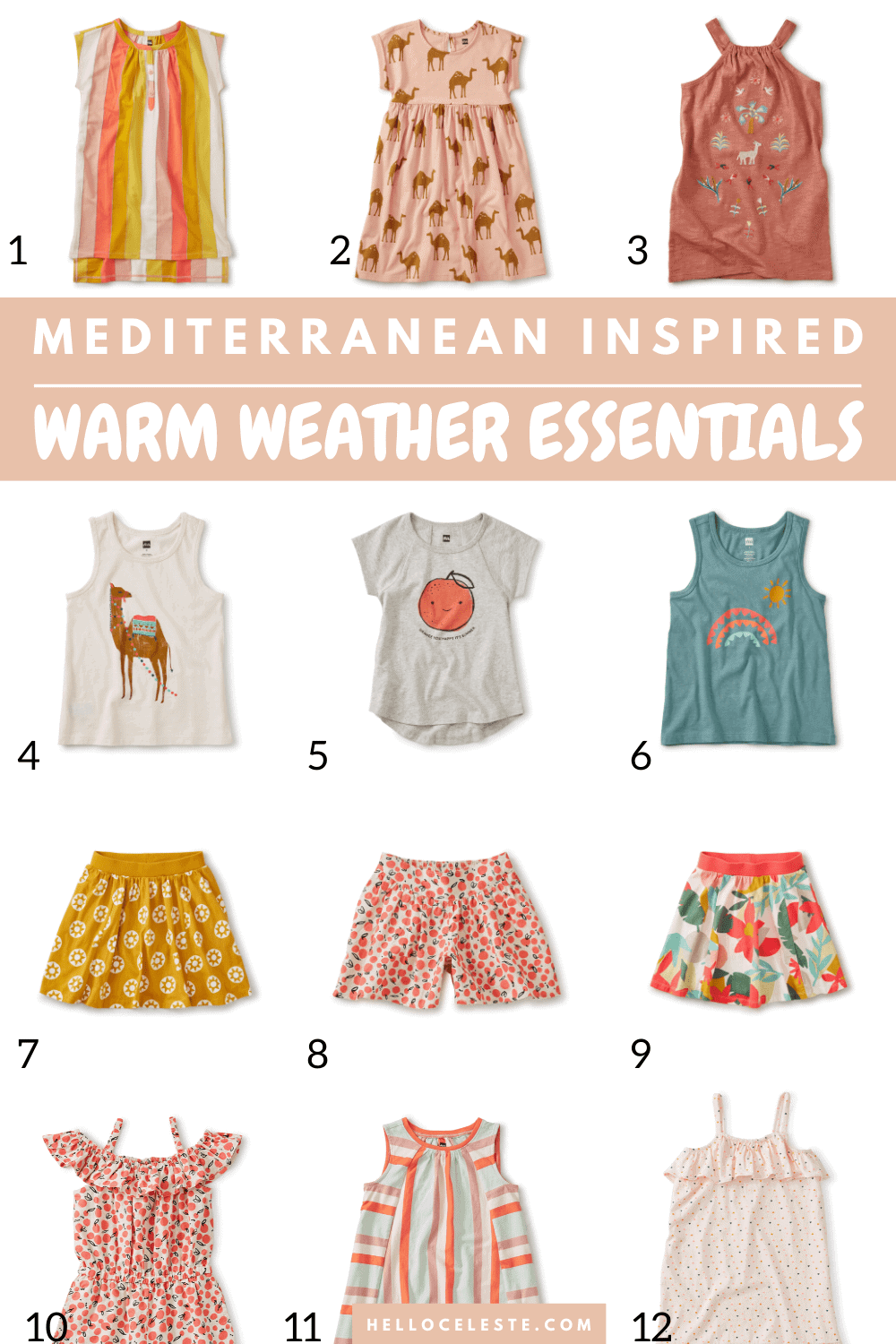 WARM WEATHER ESSENTIALS GIRLS 2-12
