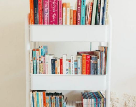 KID FRIENDLY BOOK CART