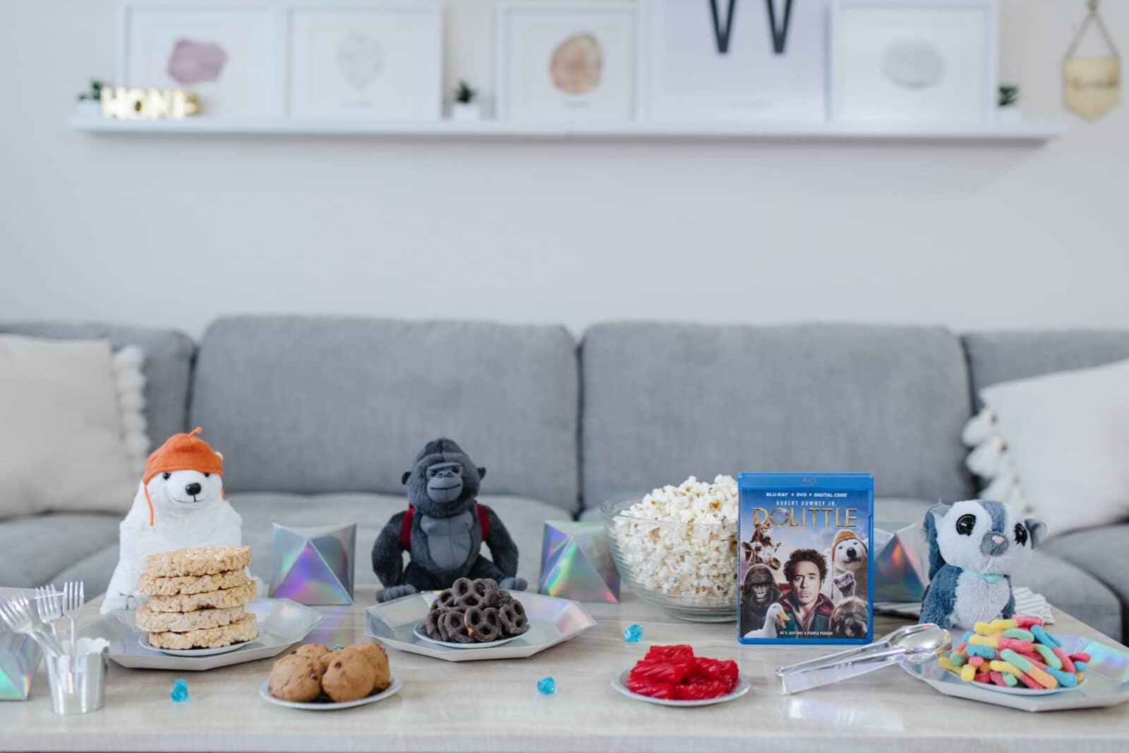 Dolittle Movie Night Animal themed snacks