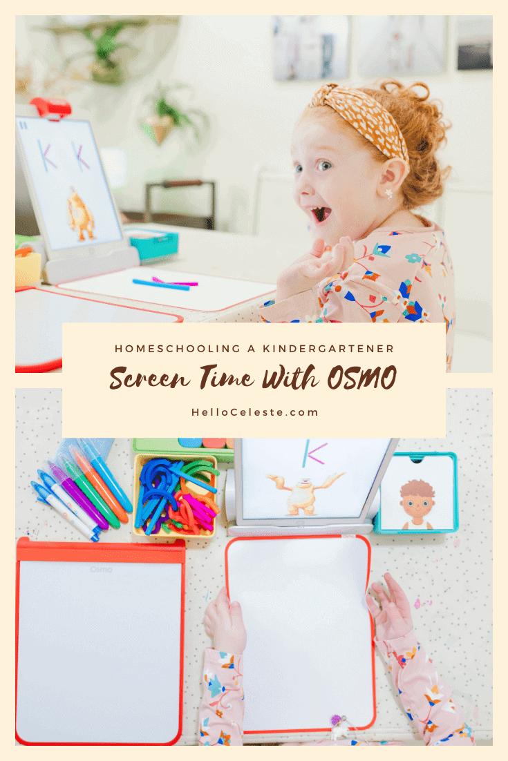 Osmo homeschooling learning on iPad