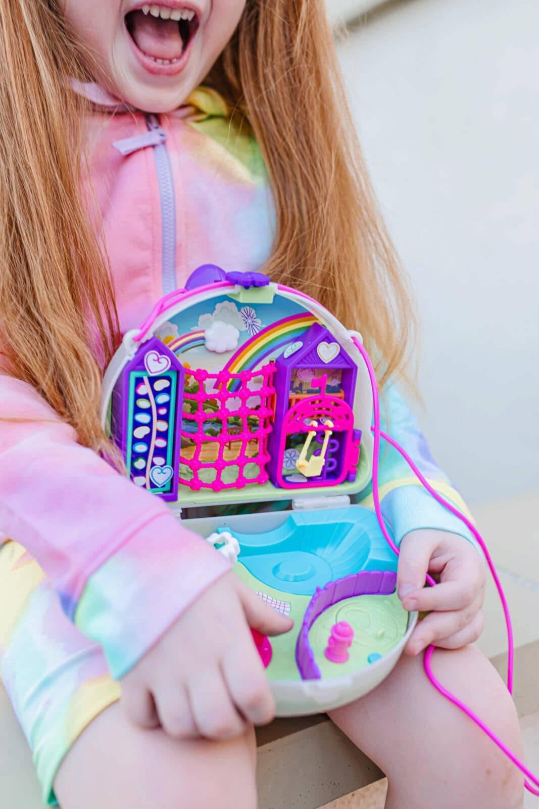 90s girl tye dye polly pocket butterfly clips