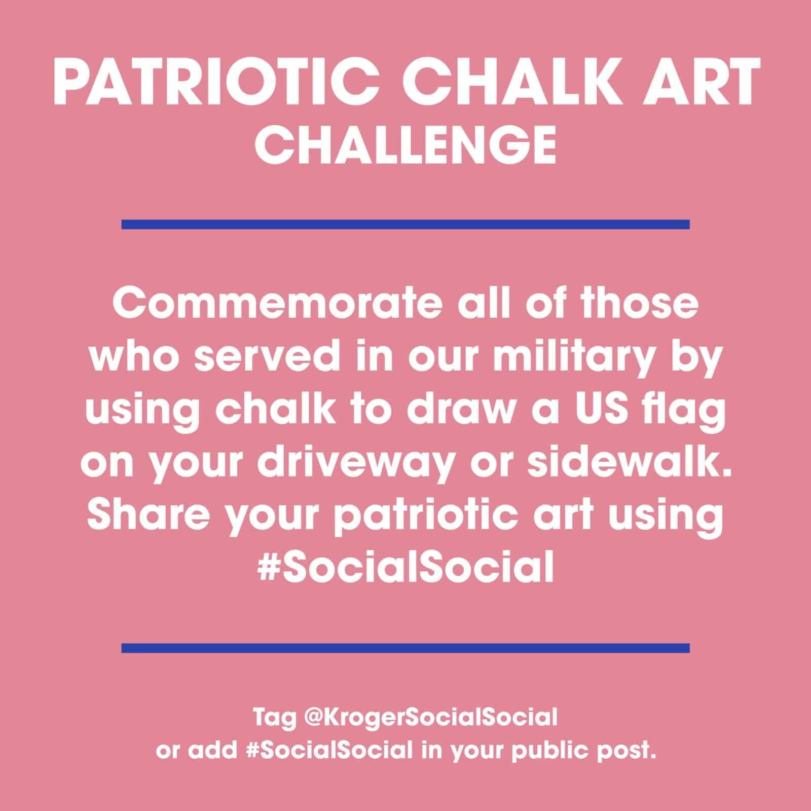 Patriotic Chalk Art Challenge