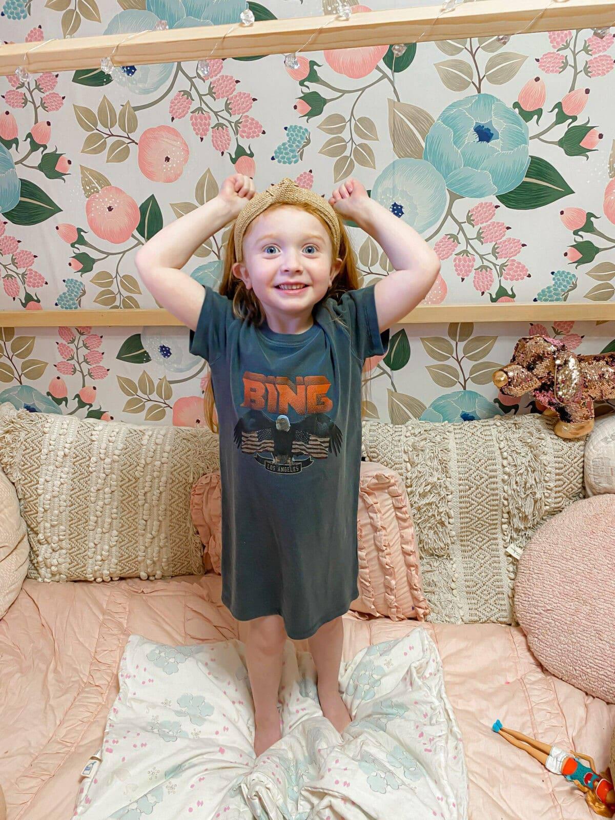 anine bing kids tee shirt dress