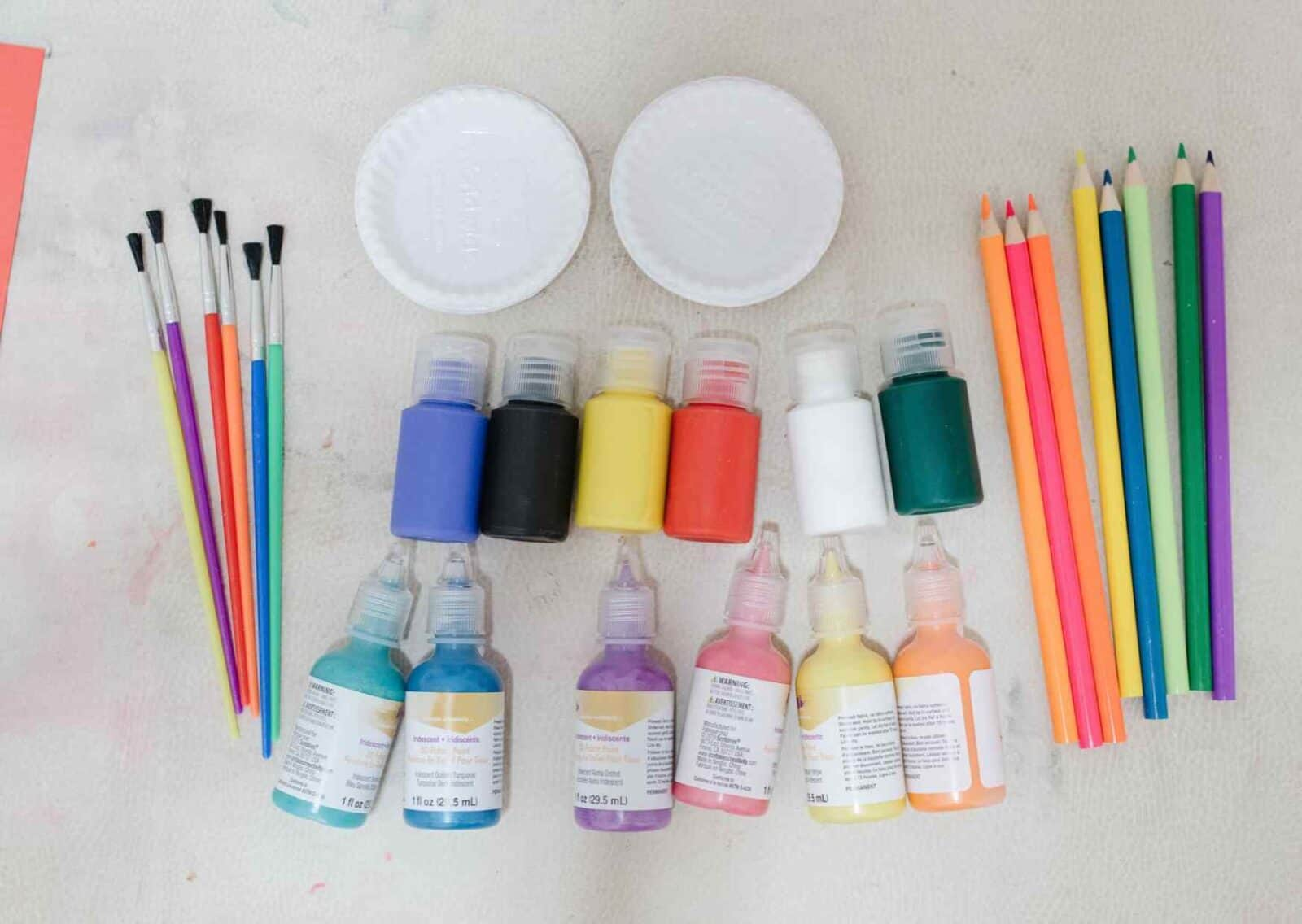 Supplies for craft project