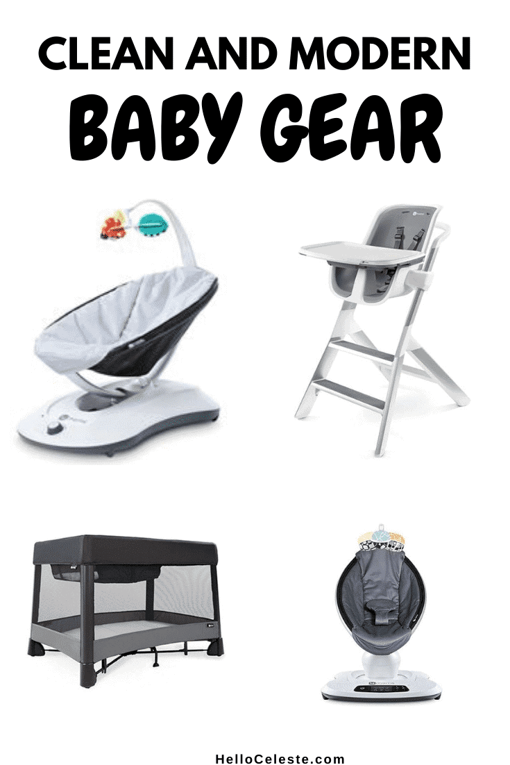Clean And Modern Baby Gear