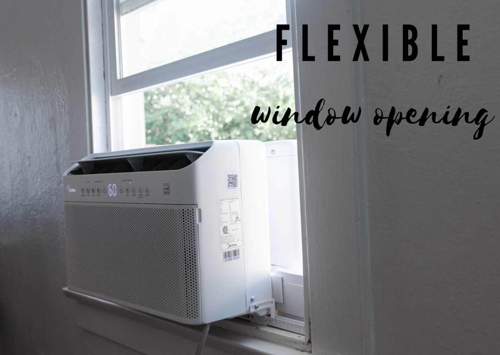flexible window opening air conditioner
