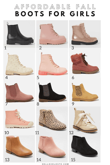 FIFTEEN AFFORDABLE FALL BOOTS FOR GIRLS