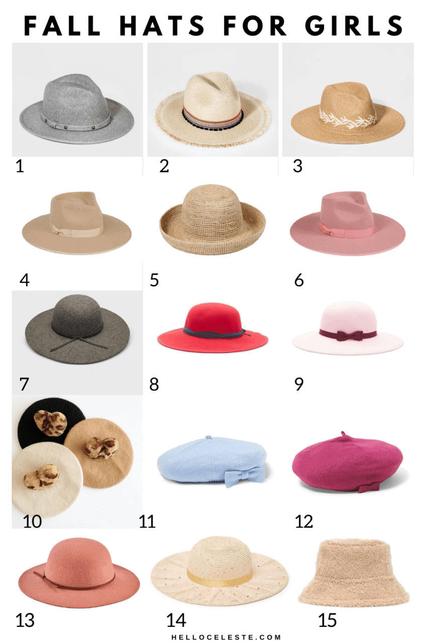 FIFTEEN AFFORDABLE FALL HATS FOR GIRLS