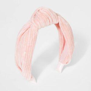 Girls' Ribbed Velvet Knot Headband - Cat & Jack™