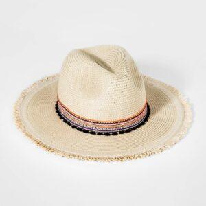 Girls' Straw Rancher Hat with Trim - art class™ Cream