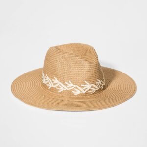 Girls' Embroideried Floppy Hat - art class™ Brown One Size