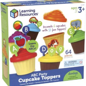 Learning Resources ABC Cupcake Party Toppers