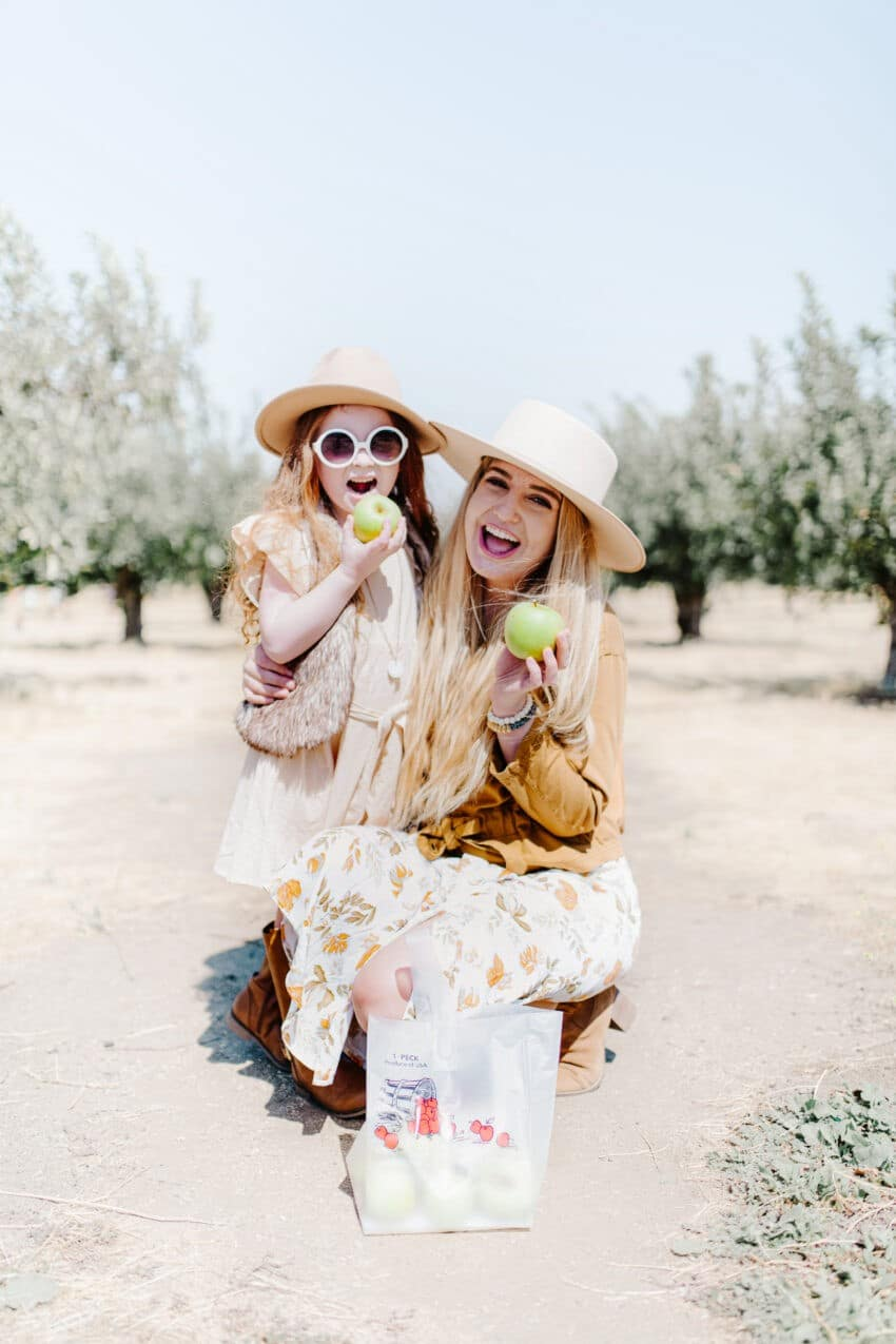 Apple Picking in Tehachapi, California