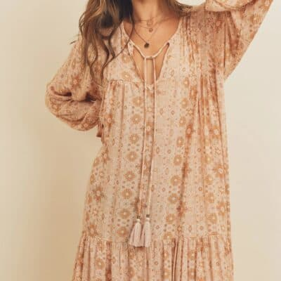 FLORENCE BOHO TIERED MAXI DRESS [PRE-ORDER]