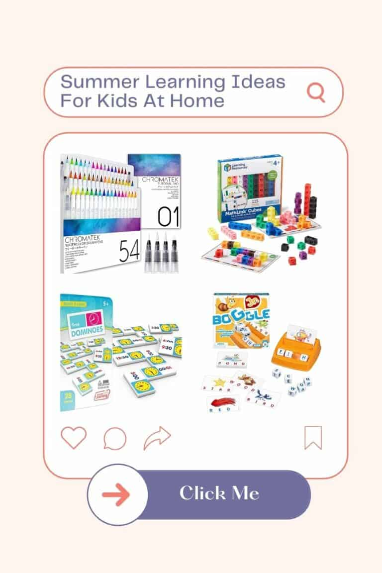 Summer Learning Ideas For Kids At Home